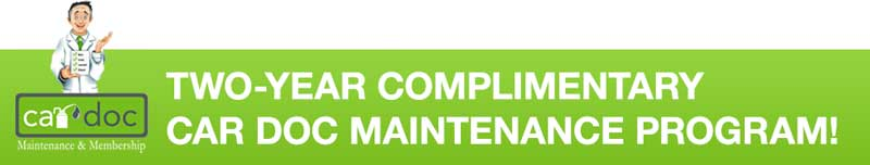 Two-Year Complimentary Car Doc Maintenance Program