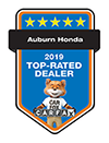Auburn Honda 2019 Top-Rated Dealer | CarFax