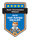 East Tennessee Nissan 2019 Top-Rated Dealer | CarFax