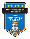 Victory Honda of Jackson 2019 Top-Rated Dealer | CarFax