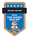 Ocean Honda 2019 Top-Rated Dealer | CarFax