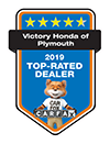 Victory Honda of Plymouth 2019 Top-Rated Dealer | CarFax