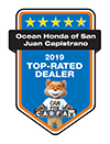 Ocean Honda of San Juan Capistrano 2019 Top-Rated Dealer | CarFax