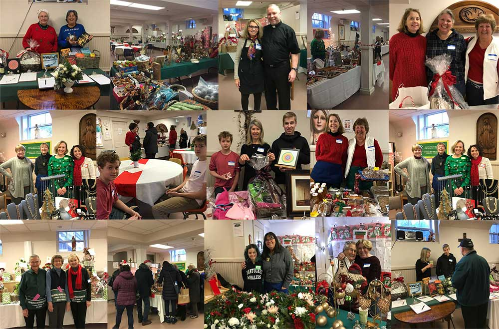 Collage of the 2019 Christmas Fair at St. Mary Our Lady of the Isle