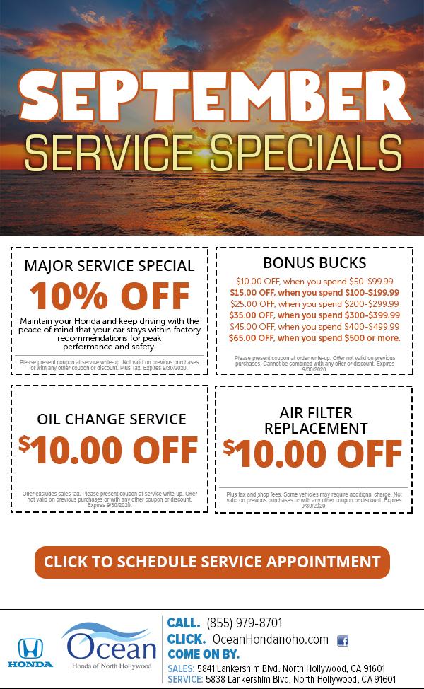September Service Specials